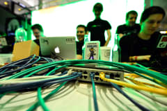 File photo: Participants at a hacking conference in Germany